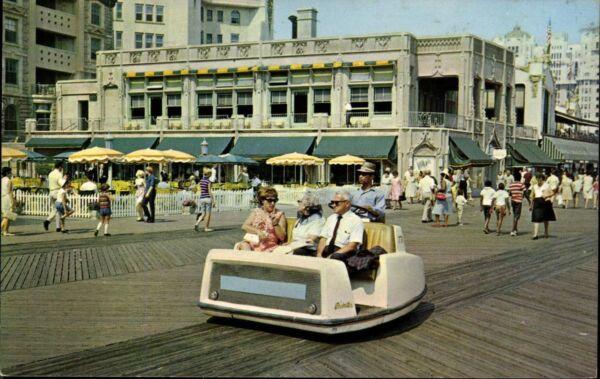 Fein Postkarte Ansichtskarte Farbig Gelaufen Rolling Chairs Atlantic City Karte Usa