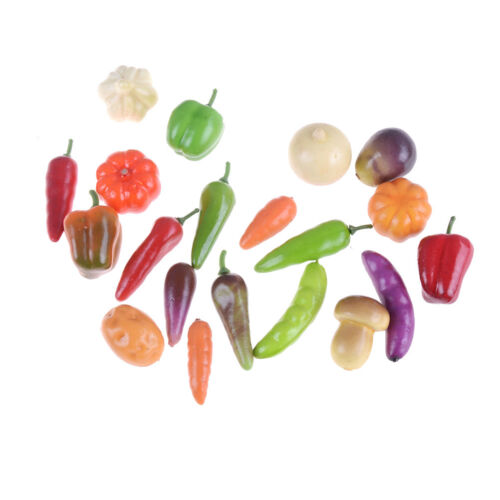 10Pcs Many Kinds Of Vegetables Miniature Dollhouse Mini Decor Handmade Supply KW