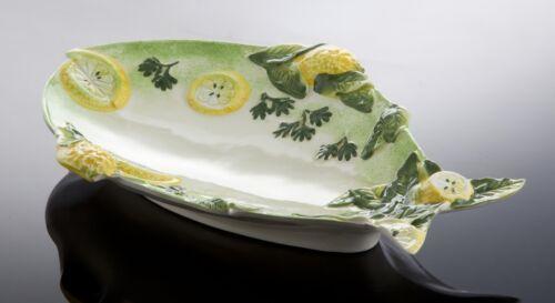 Bassano poisson assiette dans fischform panne italienne Céramique 29x20 relief