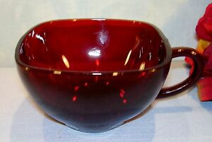 Anchor Hocking Charm Royal Ruby Cup 40s 50s 60s Glassware