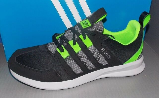new arrival b0a0a 3bfab MENS ADIDAS SL LOOP RUNNER in colors BLACK   GREEN   GREY SIZE 10