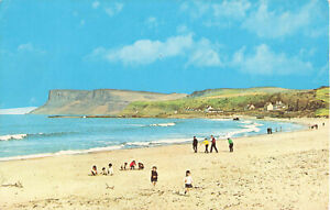 Rare Vintage Postcard - Beach/Kids Ballycastle, Antrim, N.Ireland (July 1976).