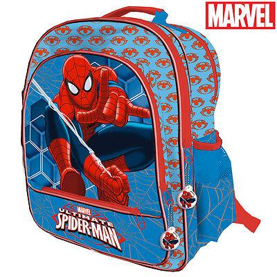 Zaino Spiderman 4 Cerniere Scomparti Scuola Media Primaria Elementari 41 cm
