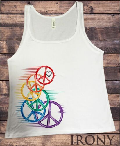 Jersey Top CND Heart Love and peace retro speed Colourful Print JTK1273