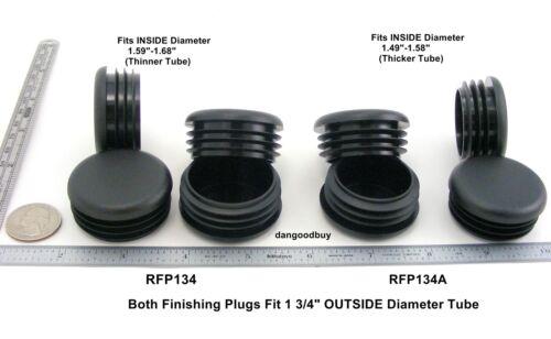 "Round Finishing Plugs for 1 3//4/"" Diameter Tubing Black Plastic Plug Insert"