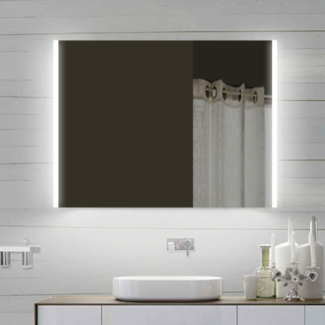 Led Beleuchtung Kalt Warm Weiss Licht Wand Hange Badezimmer Spiegel 800 X 710 Mm Ebay