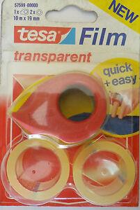 Tesa-Film-Minidispenser-2-Rollos-Cinta-Adhesiva-Tesa-Pintuar-10mtx19mm-New