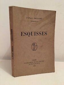 J-PAUL-MILLIET-1844-1904-ESQUISSES-PARIS-1904-KARL-BOES-DEDICACE-BE