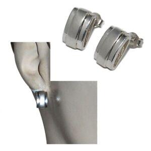 Boucles-d-039-oreilles-modernes-en-argent-massif-925-mat-et-brillant-bijou
