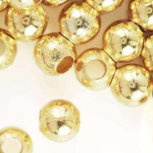 20g 50pcs)Crimp End Beads Round Gold 6mm Craft Making Wholesale Lots HACP0024