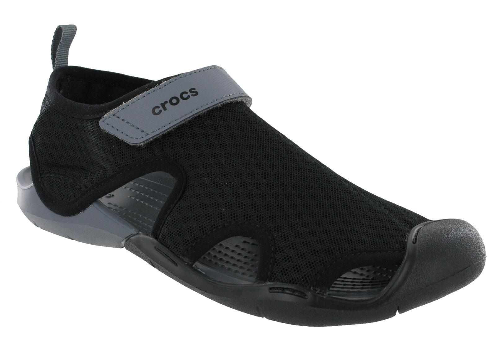 8fa3d6432c66 Crocs Women s Swiftwater Mesh Sandals US 11 Smoke for sale online