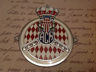 Brave Automobile Club Of Monaco Car Grille Badge Jade White Automobilia Automotive Club Badges
