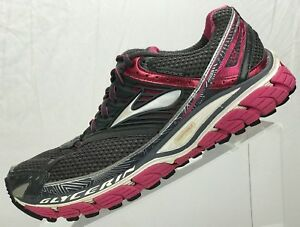 912e4de15dd7f Brooks Glycerin 10 Running Sneakers-Training Gray Pink Athletic Shoe ...