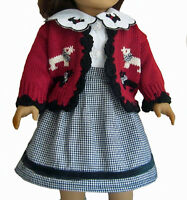 Scotty Dog Sweater + Blouse + Skirt Made For 18 American Girl Doll Clothes