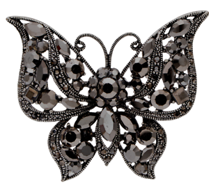 BROOCH-Black-Butterfly-Rhinestone-Crystal-Pin-on-Brooch-Gift-for-Mothers-Day