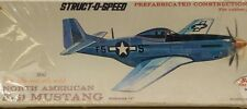 "13"" NORTH AMERICAN F-51 MUSTANG Struct-O-Speed WW2 Balsa Model Kit COMET 2304"