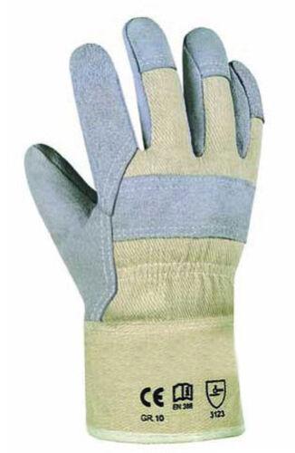 Arbeitshandschuhe Spaltleder Handschuhe Gr. 10 Handwerker Arbeitskleidung Maco