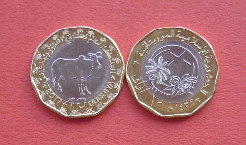 Mauritania 2017 Cow 10 Ouguiya Bi-metallic Coin UNC