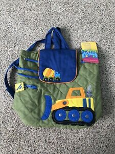 Stephen Joseph Boys Quilted Tractor Backpack Cute Toddler Preschool Book Bags