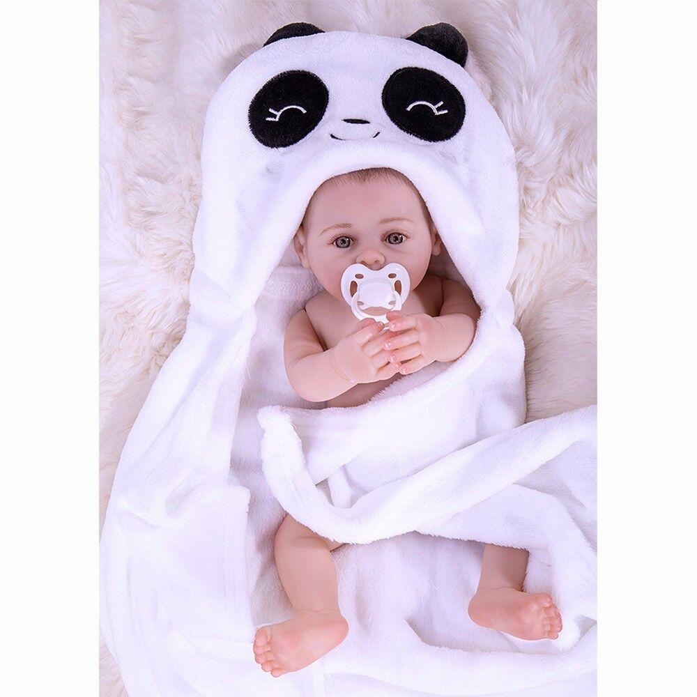 Waschbar 45cm Silikon Junge Babypuppe Lebensecht Realistische Reborn Baby Puppe