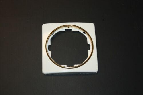 Berker TWINPOINT 1-fach Rahmen in polarweiss goldene Zierringe