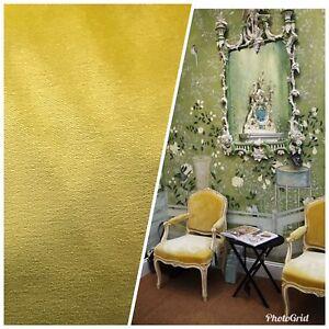 Designer Heavy Weight Velvet Upholstery Fabric Soft Yellow Ebay