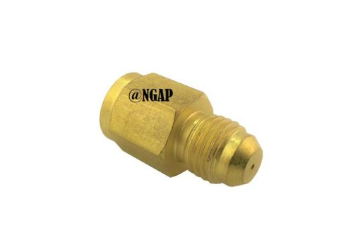 """4AN Male to 4AN Female 0.035/"""" 4AN INLINE Turbo Oil Inlet Restrictor Fitting"""