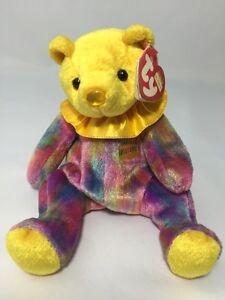 94ec6ea34a1 TY NOVEMBER Happy Birthday Bear Original Beanie Baby Retired Yellow ...