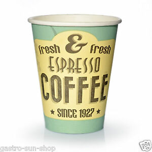 coffee to go becher 50 x 0 2l pappbecher espresso fresh kaffeebecher pappe 200ml ebay. Black Bedroom Furniture Sets. Home Design Ideas