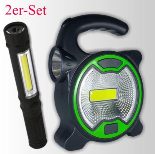 2 x COB DEL Lampes de travail dans le Set COB-Travail Lampe COB Work Light