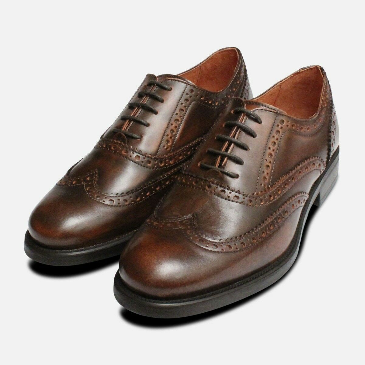 Antique Brown Oxford Brogues for Ladies
