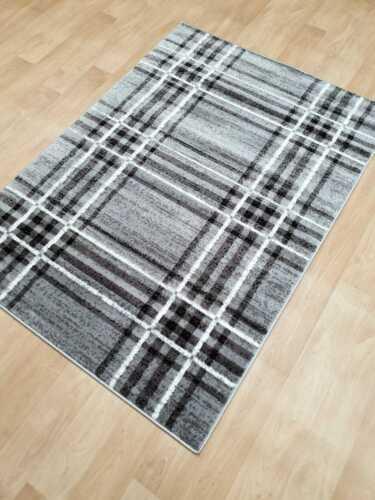 Tartan Rug Small Large Short 10mm Soft Pile Rug Mat Carpet Living Room Large Rug