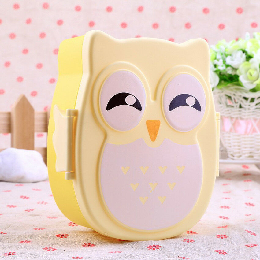 1PC CUTE CARTOON Owl Lunch Box Food Container Storage Portable Kids