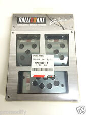 Aluminium Manual RalliArt Style Foot Pedals Covers Mitsubishi Evo VI VII VIII IX