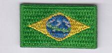 Brasilien Mini Aufbügler,Aufnäher,Patch,3,5 * 2,0 cm