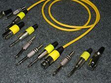 Klinke Kabel Mono gelb 6,3 mm länge 1,5 meter