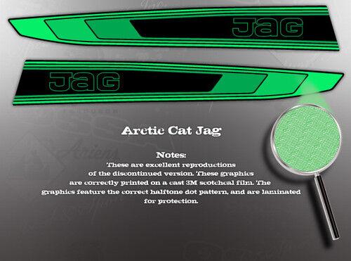 ARCTIC CAT 1980 JAG HOOD GRAPHIC DECAL SET