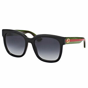 6bfece3b54 Image is loading New-Authentic-Gucci-GG0034S-002-Black-Plastic-Sunglasses-