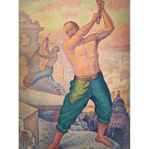 Paul-Signac-The-Demolisher-Working-Man-Painting-Canvas-Wall-Art-Print-Poster