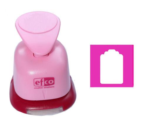 """Motif-perforateur Jumbo 3xl 3/"""" motif perforateur Efco Craft punch jour bouclier étiquette 5018"""