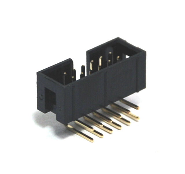 100pc IDC Cable Male Connector Box Header 90° Right Angle 2x6p 2x6 12p No Lock
