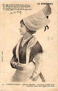 CPA-Perriers-Coiffes-d-039-Hier-La-Normandie-Folklore-Type-633188
