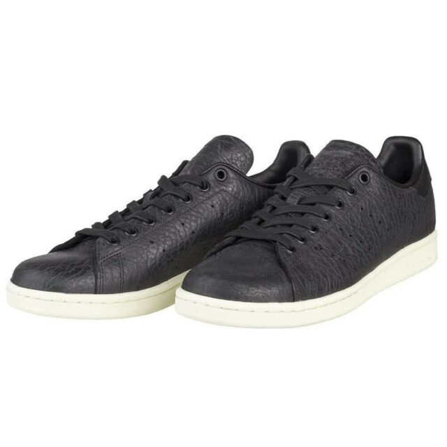 new images of famous brand special sales Adidas Originals Stan Smith Trainers Leather Core Black White BB0037 UK 6