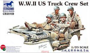 Bronco-Model-kit-CB35159-1-35-WWII-US-Truck-Crew-Set-4-figures-Hot