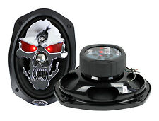 "2) NEW BOSS SKULL SK694 6x9"" 700W 4 Way Car Audio Full Range Speakers 6""x9"" PAIR"