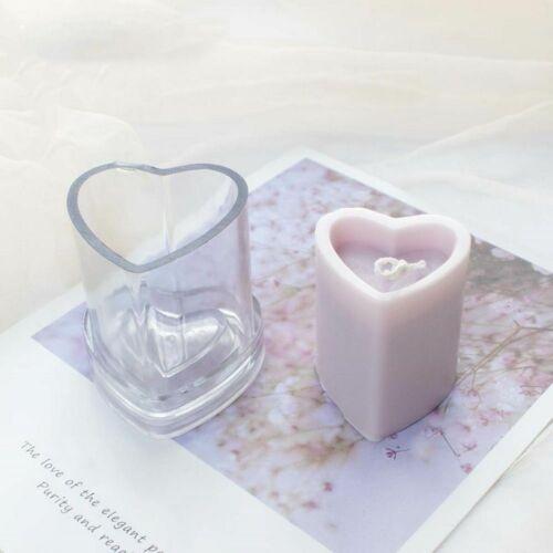 Heart Shape Acrylic Candle Mold DIY Handmade Love Soap Aromatherapy Making Mould