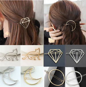Fashion-Alloy-Hair-Clip-Hairband-Bobby-Pin-Barrette-Geometry-Hairpin-Headdress