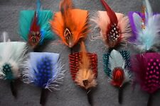 Godfather hat Plume 10 Pieces Feathers  Fedora Derby hat Lincoln Victorian.