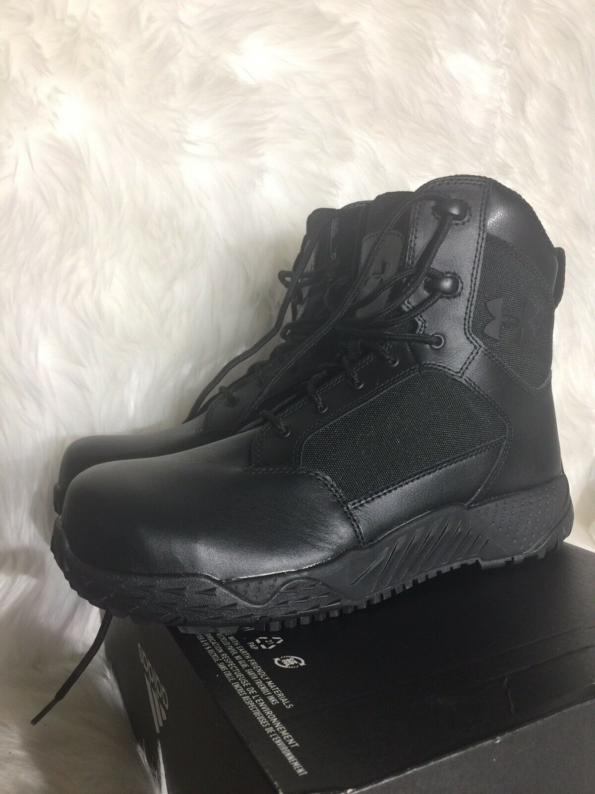 New UnDer Armour Black Steel-Toe Tactical Boot US Woman's Sz 9-5