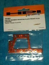 HPI 101801 Orange Aluminum Center Gearbox Mounting Plate: 1/8 Trophy Truggy Flux